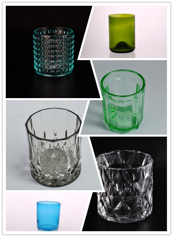 We love these solid color candle glass