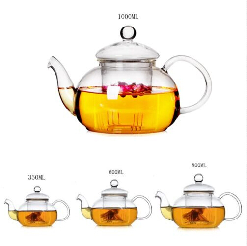 Food Grade Pyrex Borosilicate Glass Tea Pot