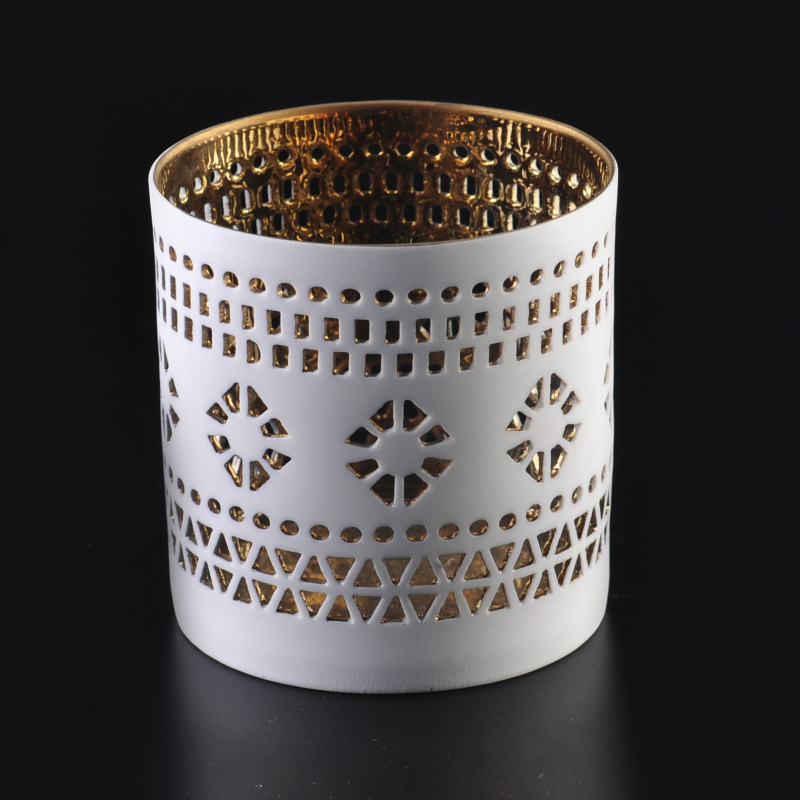 New wholesale electroplating pottery candle holders