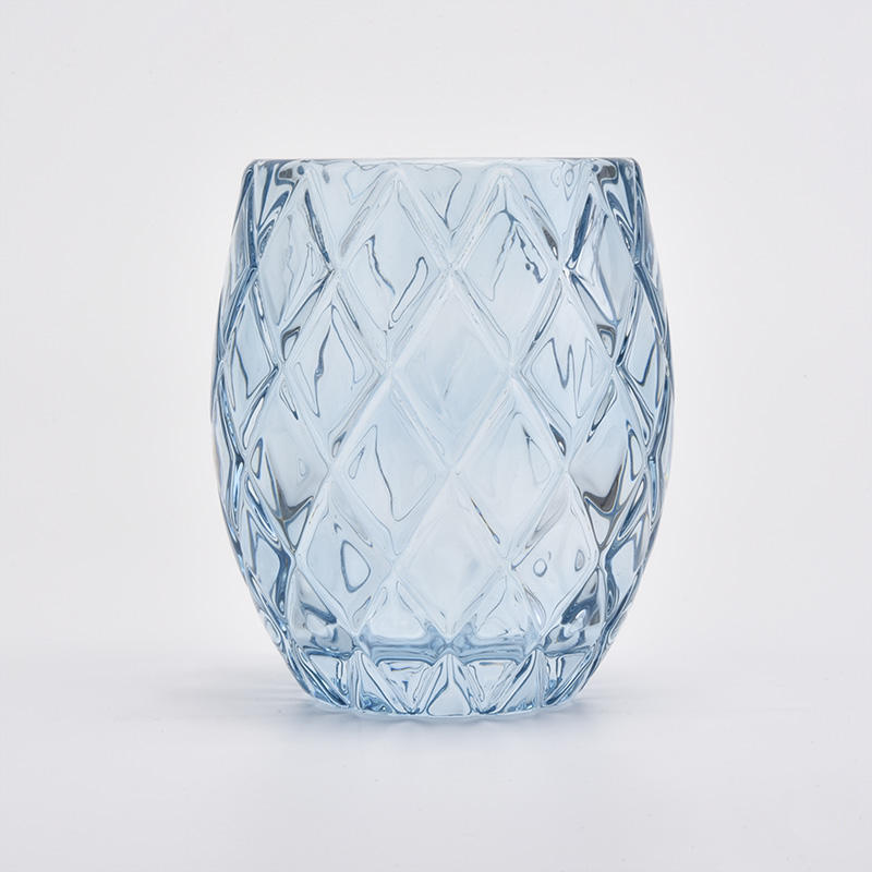 New arrival Get Cut Glass Candle Jar With Spray Color