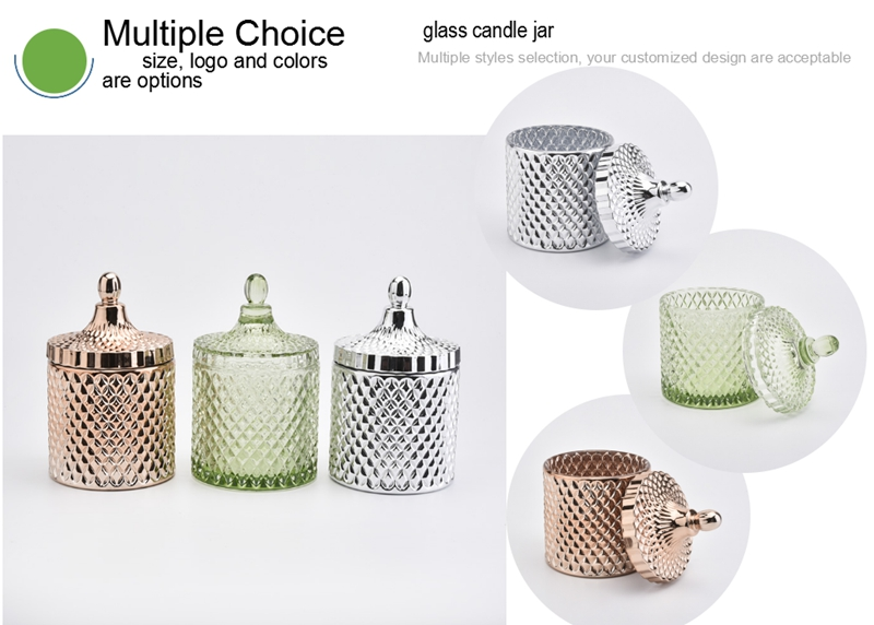holiday glass candle jars