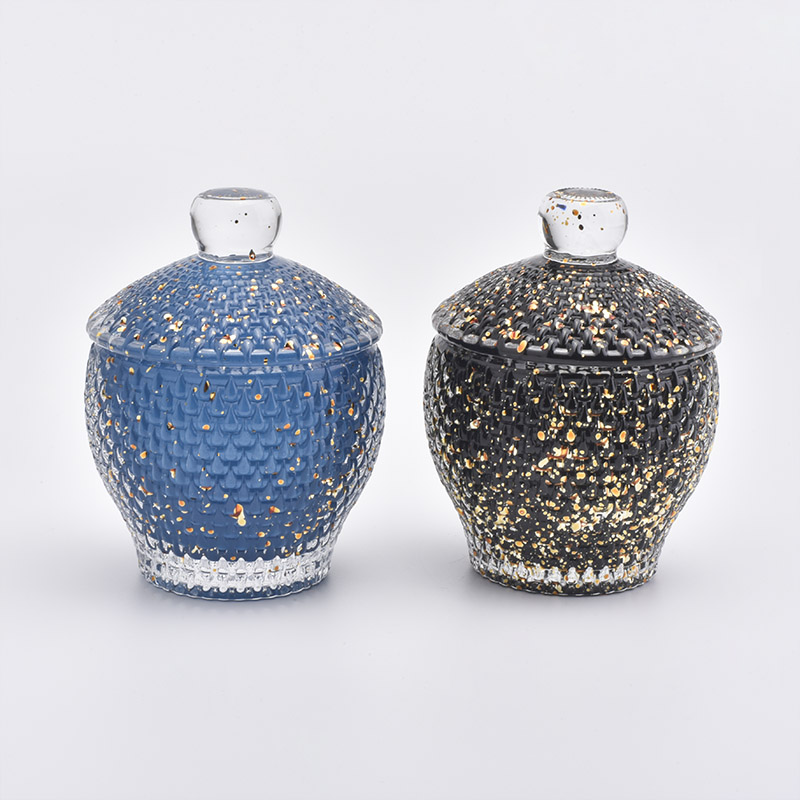 New Arrival Glass Candle Jar With Lids
