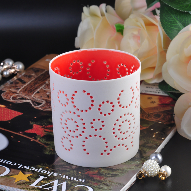 New home decoration ceramic candle holder wholesale
