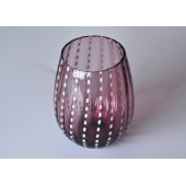 Colored Decorative Mouth Blown Glass Candle Jar