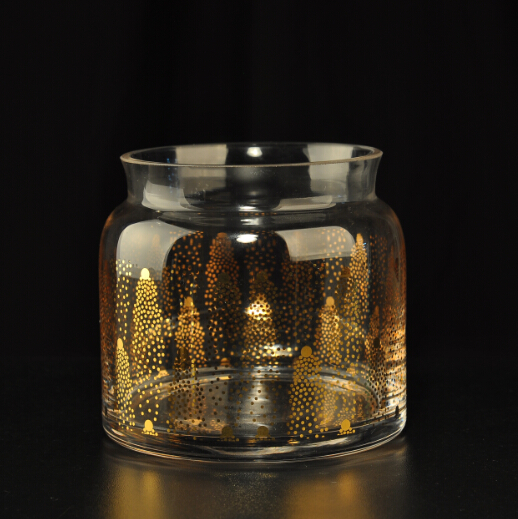 real gold glass candle jars