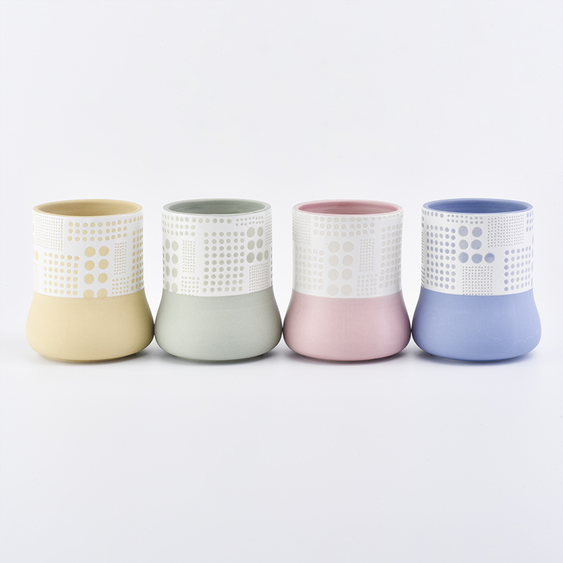Summer Series Ceramic Candle Holders For Decoration
