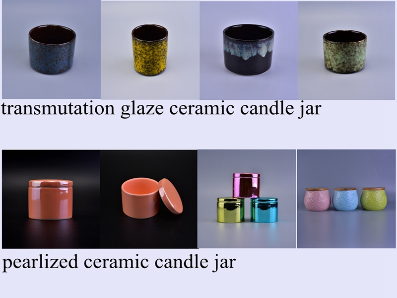 ceramic candle jars
