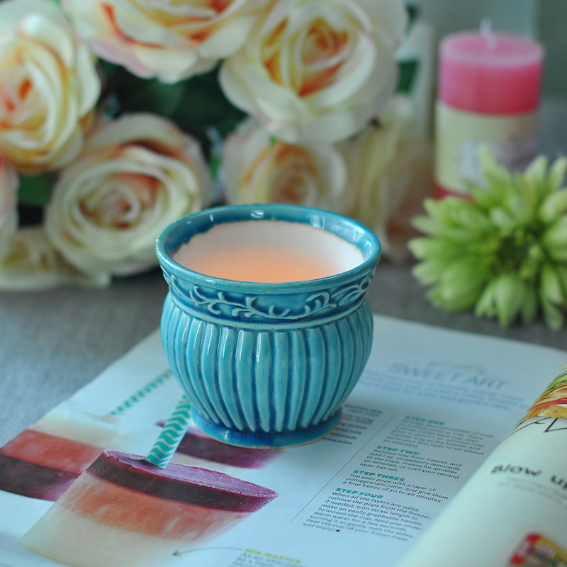 Glazing ceramic candle holders