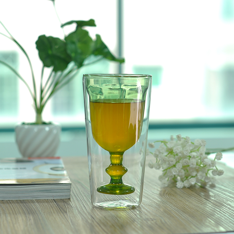 Borosilicate double wall drinking glass