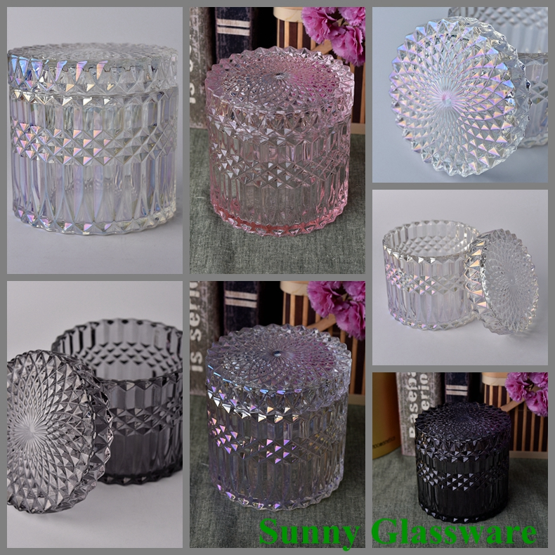 luxury glass candle holders
