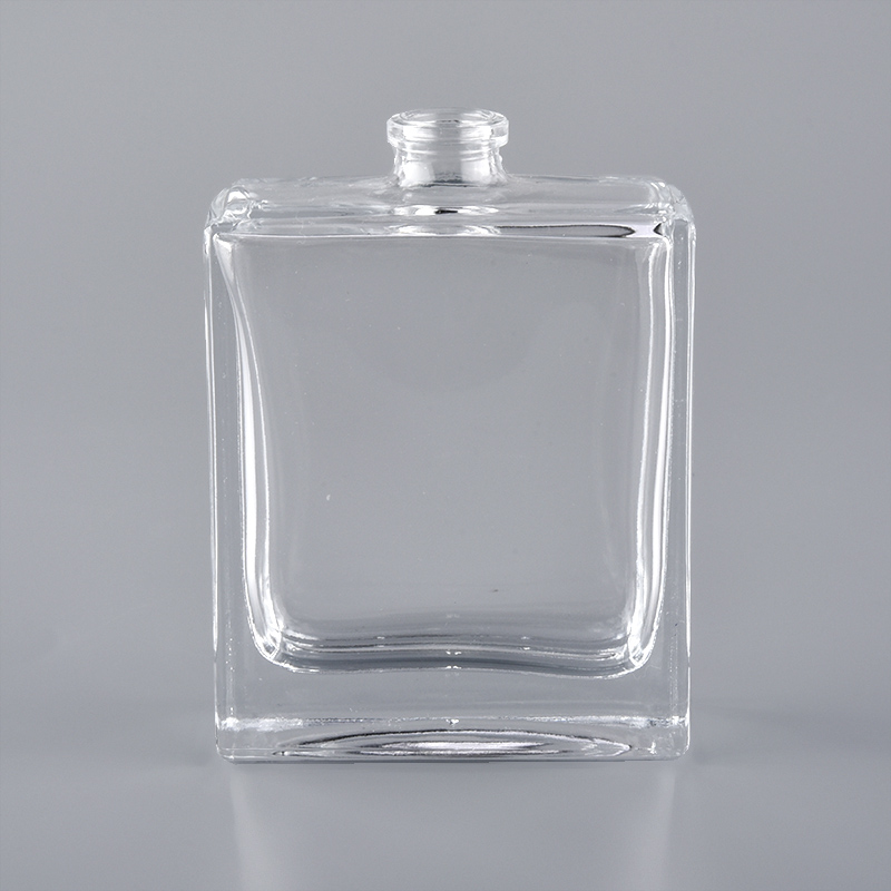 60ml clear empty glass oil perfume bottle glass essential oil rectangle bottle