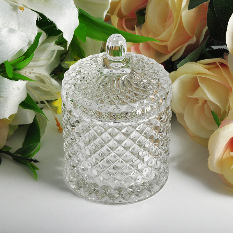 Luxurious glass candle holder