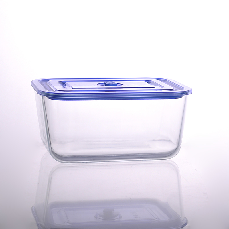 3050ml rectangular salad bowl pyrex glass lunch box with lid