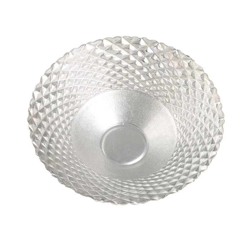 Clear glass beaded plate without handle