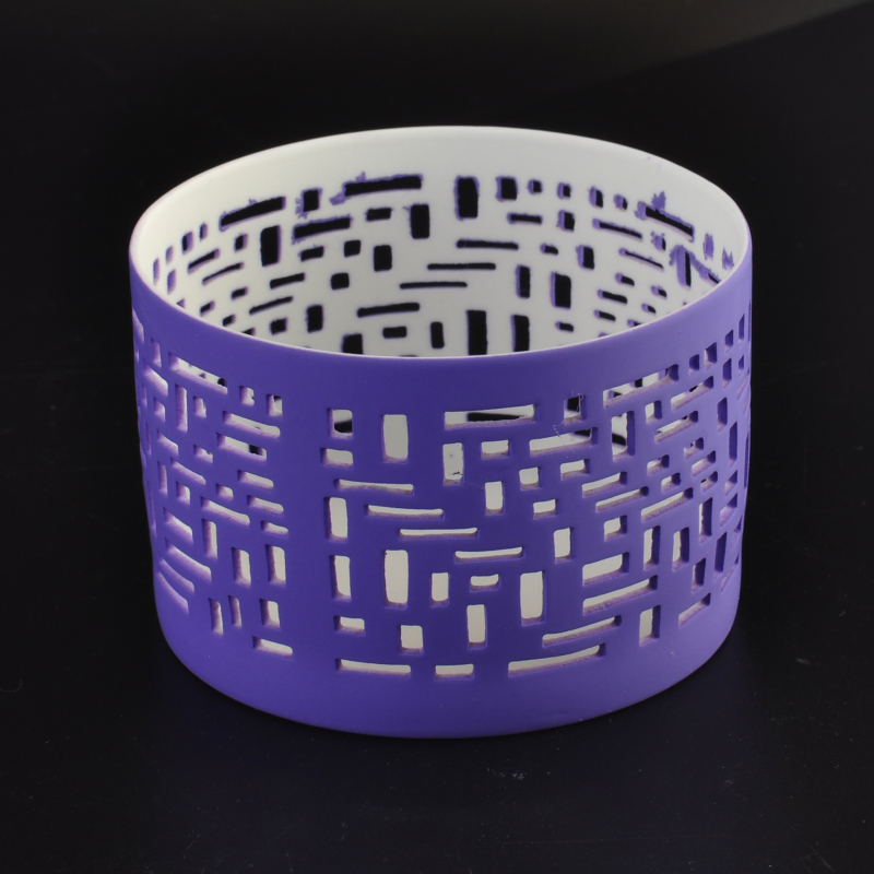 Wholesale colored cut ceramic candle holder