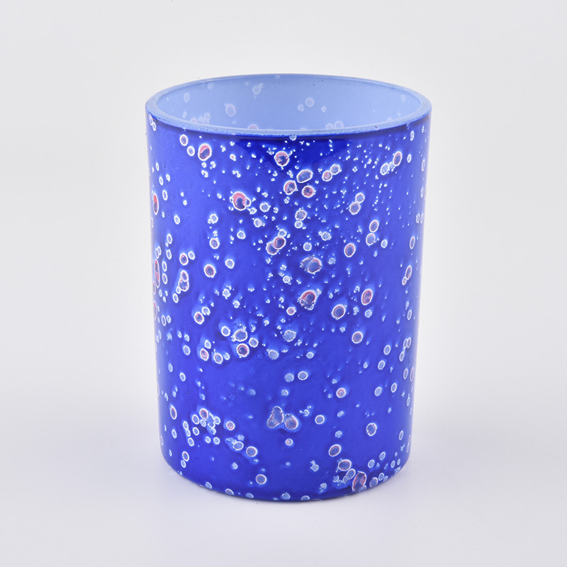 cell effect blue glass candle jar for 2020