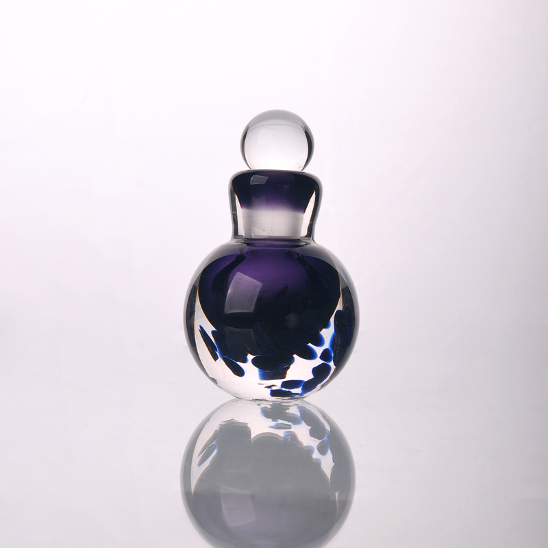 Mini sprayed pear or gourd shaped cosmetic container glass perfume bottle