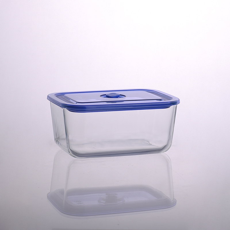 1500ml Rectangular Salad Bowl Pyrex Glass Meal Box