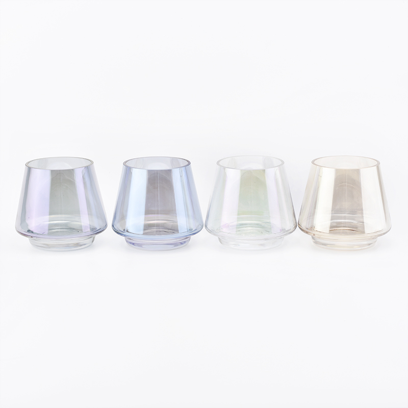 stackable colorful glass candle holders