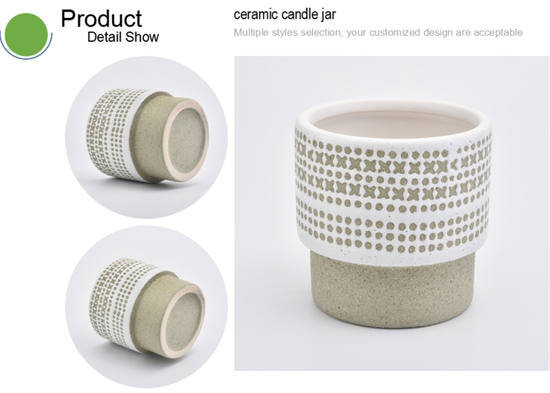 ceramic candle jar toppers