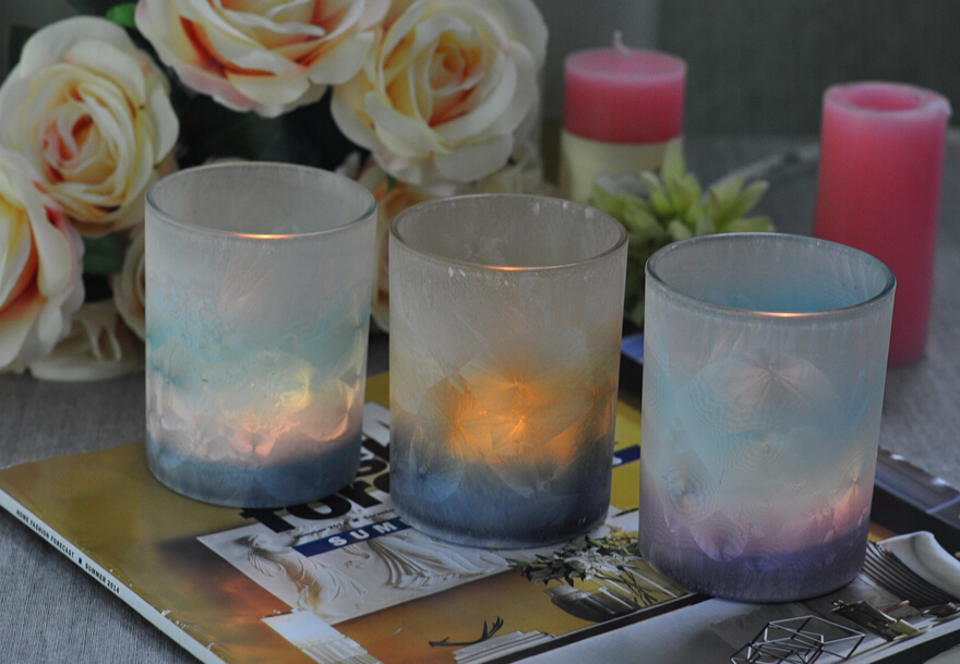 glass candle hodler
