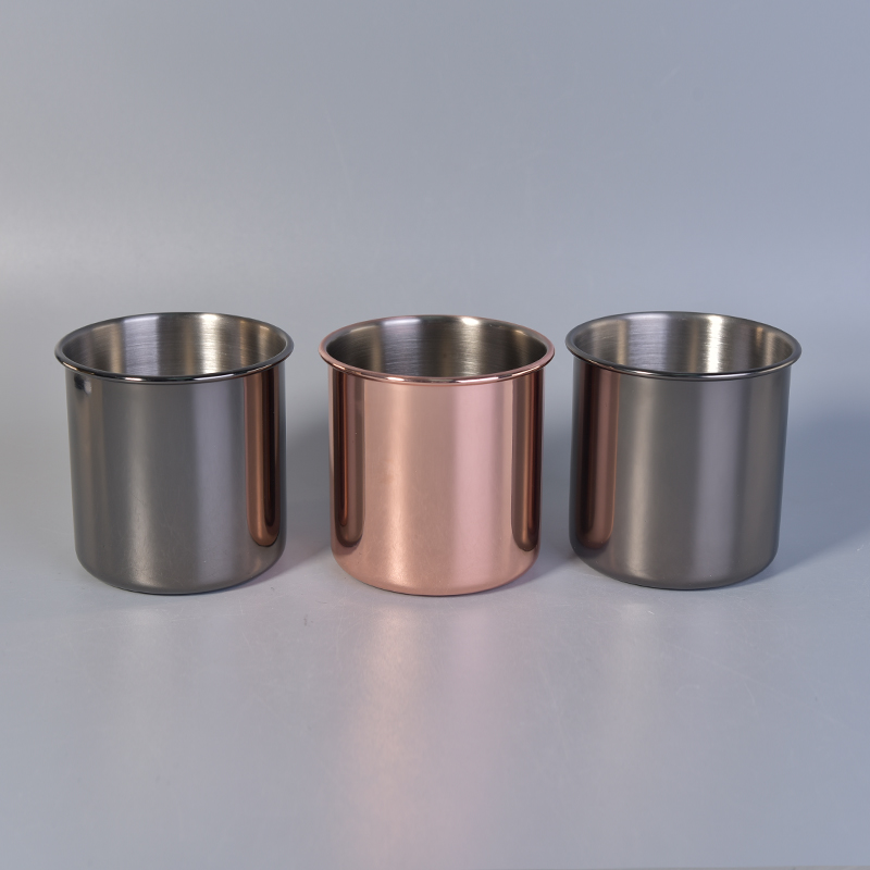 Stainless steel metal candle jars wholesale, candle holders
