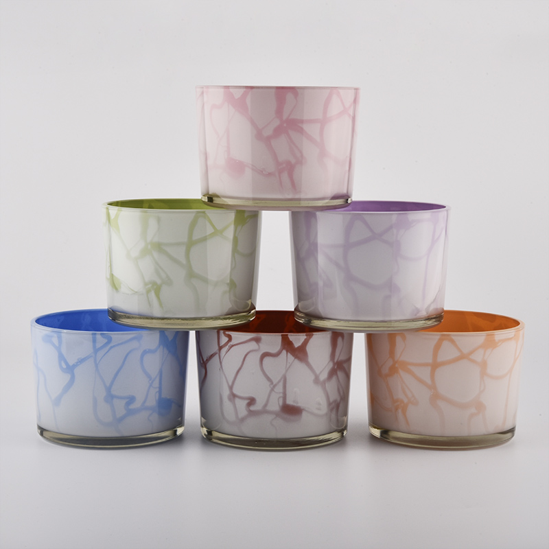 glass candle holders