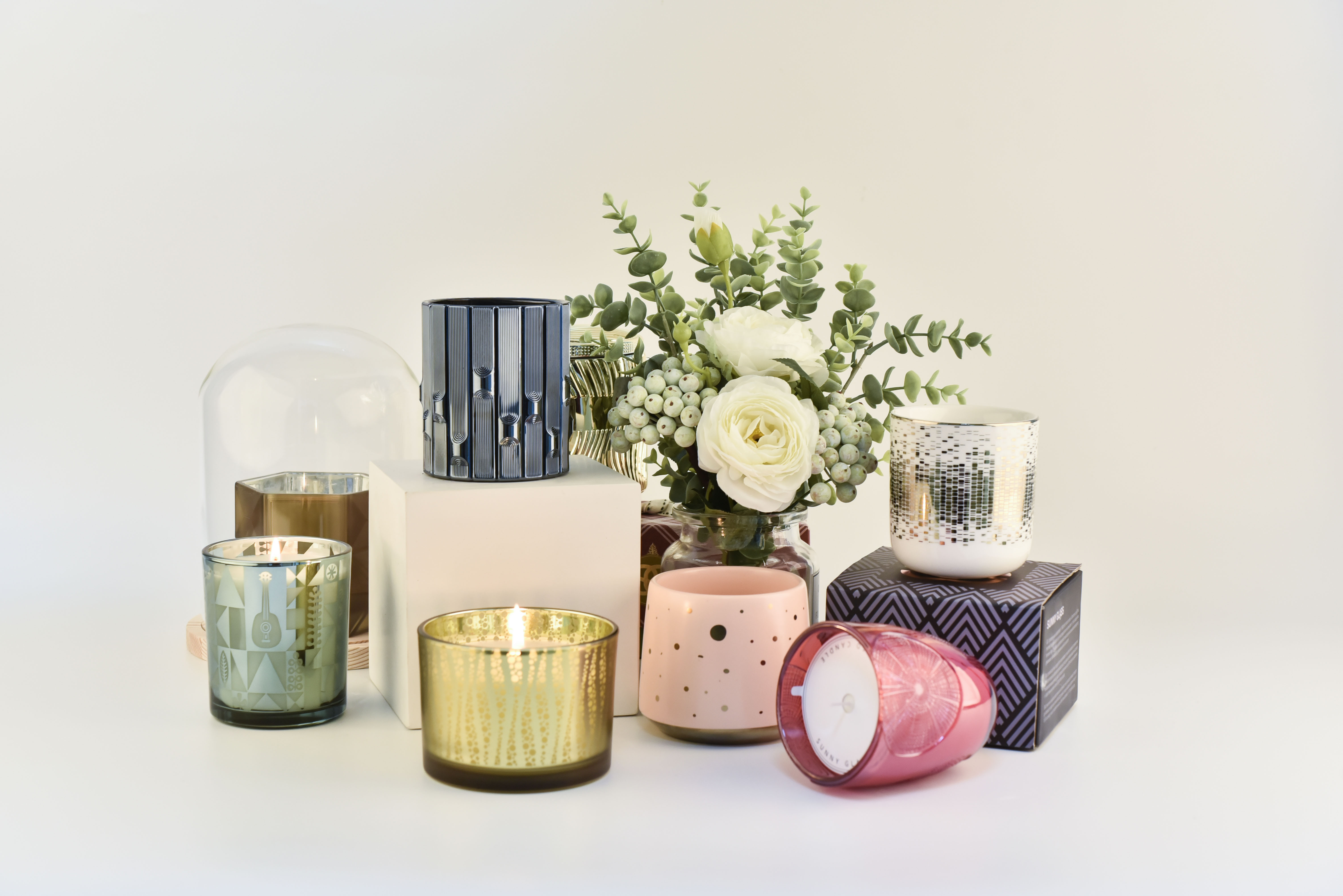 Sunny Glassware candle jars