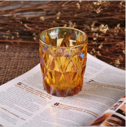 Iron Plating Home Decor Glass Candle Holder