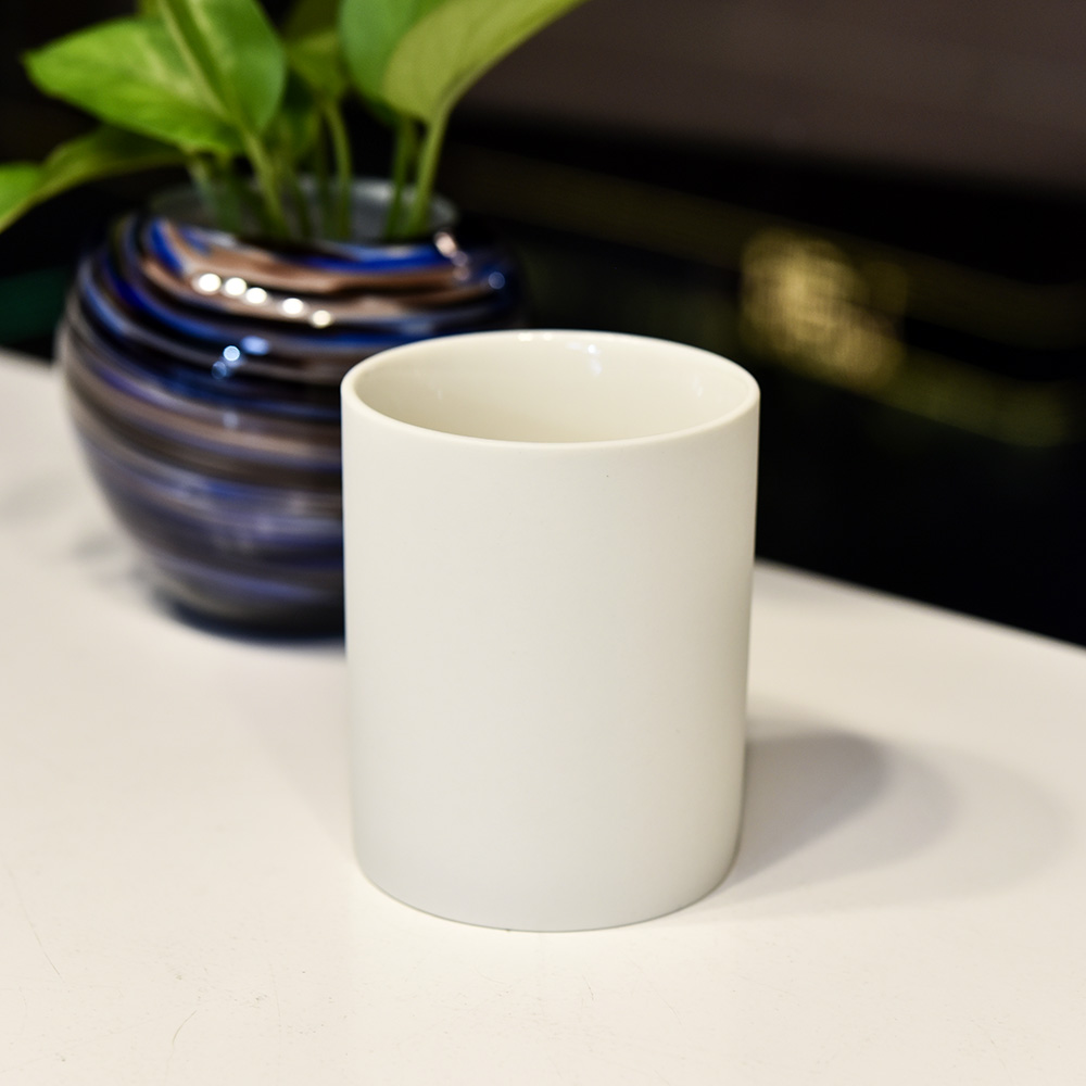 Matte White Ceramic Candle Jars Wholesale