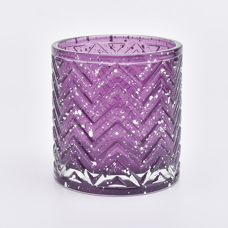 Luxury Geo Cut Glass Candle Holder For Christmas
