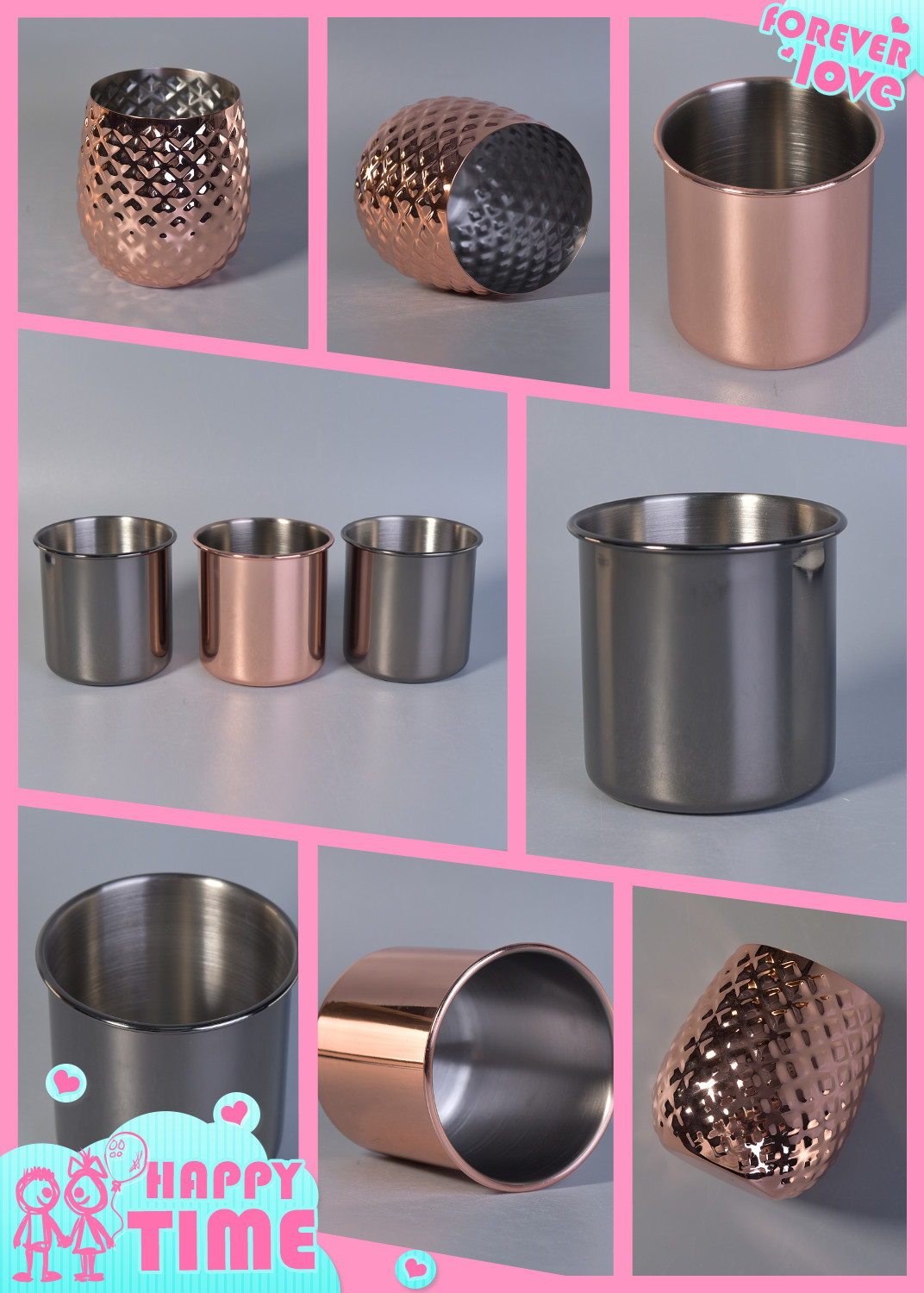 Metal Candle Holder For Home Decoration
