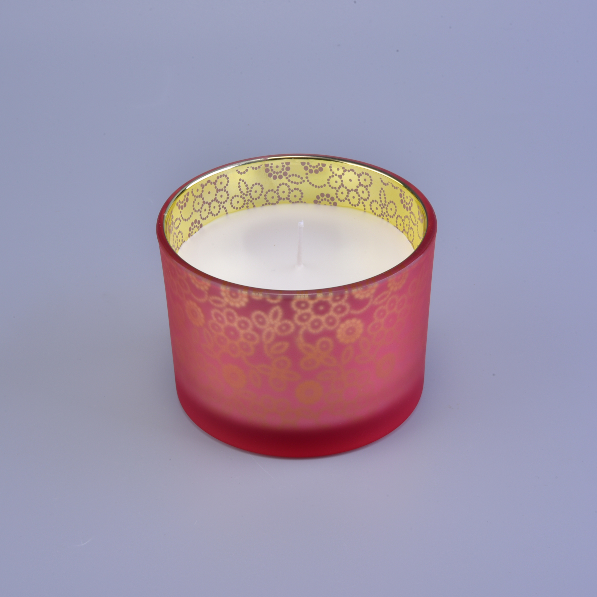 Luxury Frosted Glass Candle Jars With printing