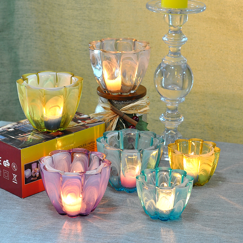 Colorful summer ceramic candle holder
