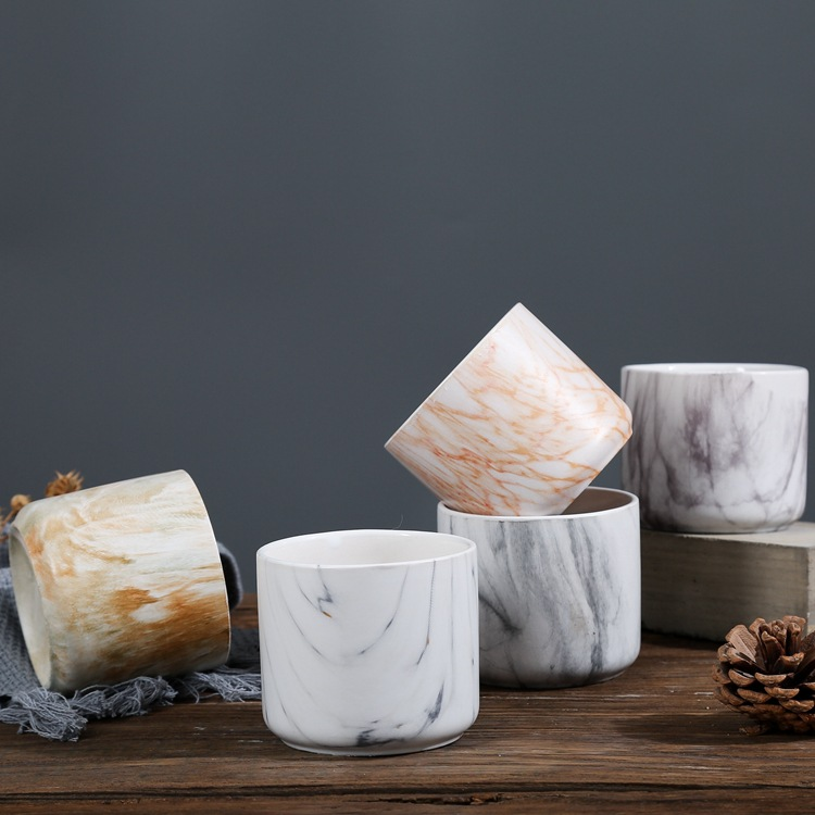 marble ceramic candle holders