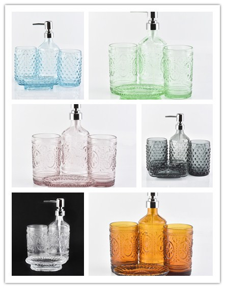 Hotel Glass Bathroom Accessories Set
