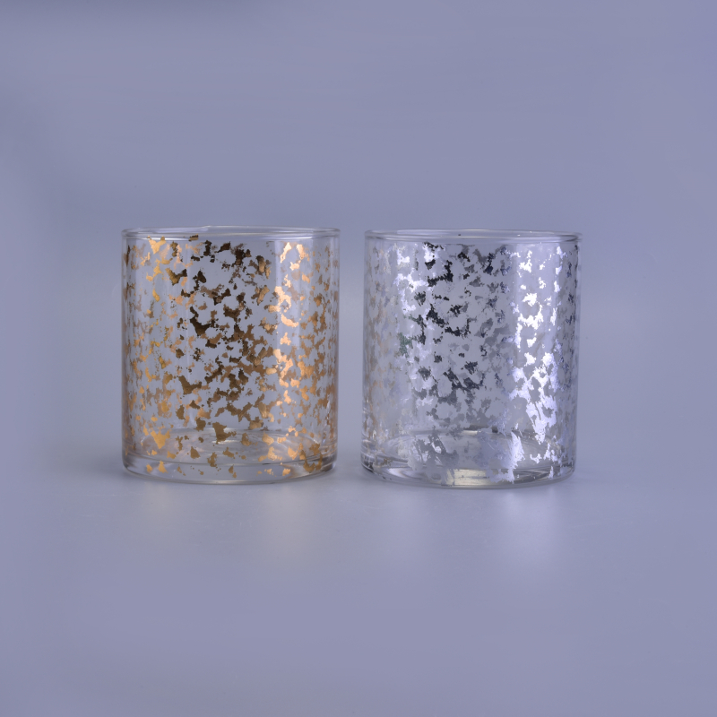 Custom Gold and Silver Decal Printing Candle Glass