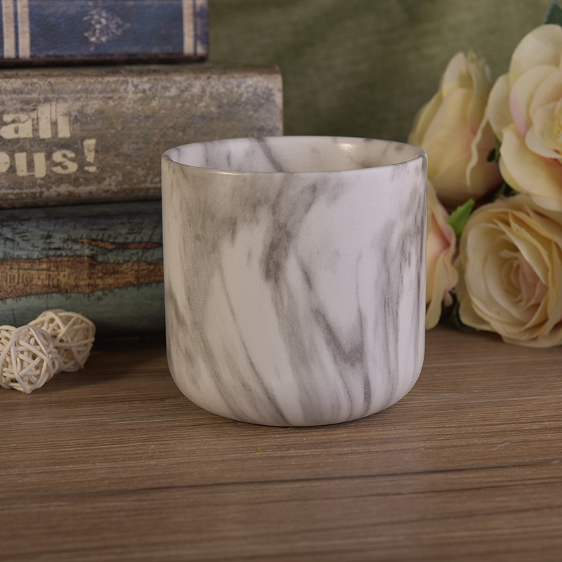 unique printing ceramic candle holder