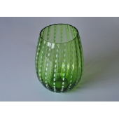 Green material handmade jar glass bowl candle holder