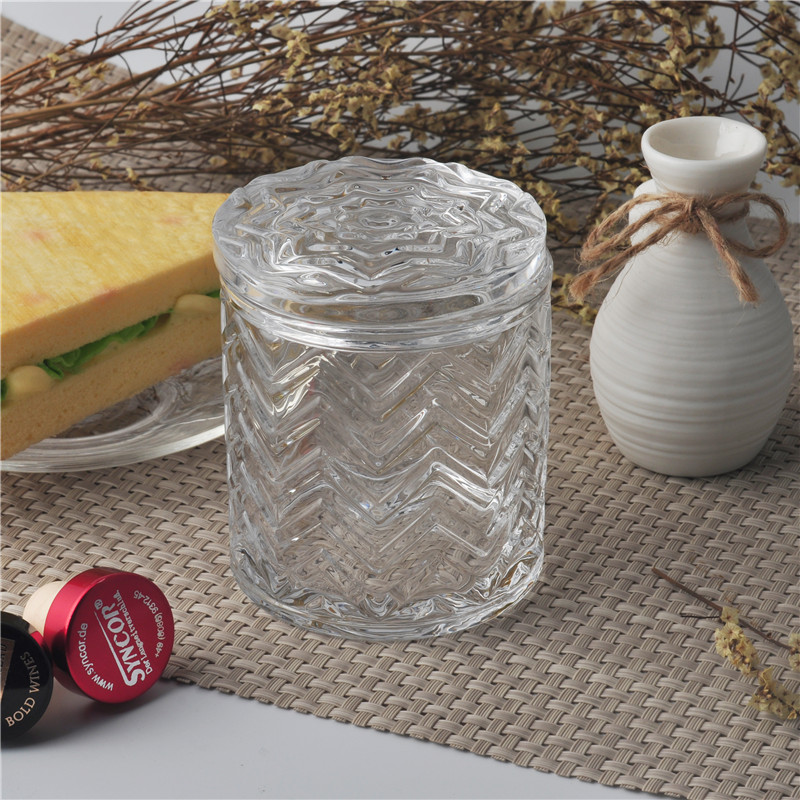 glass candle holder with lid