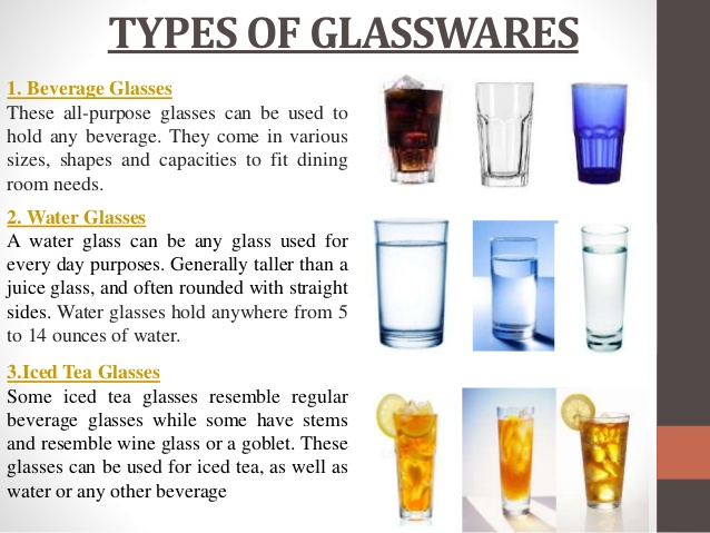 the usages of different kinds of glasses