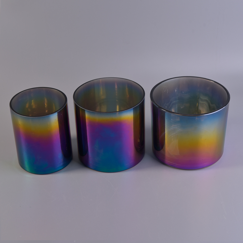 iridescence large candle jar
