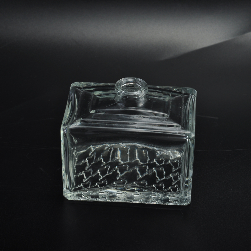 square glass perfume bottle