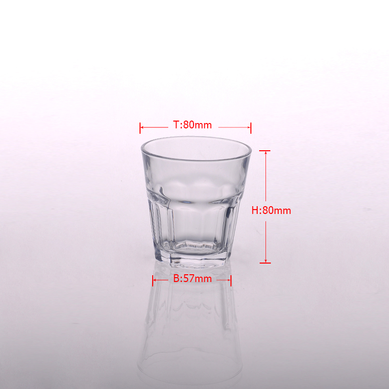 High white clear glass whisky water cup