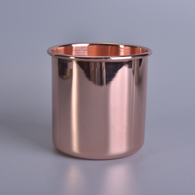 rose gold electroplated stainless steel candle holder