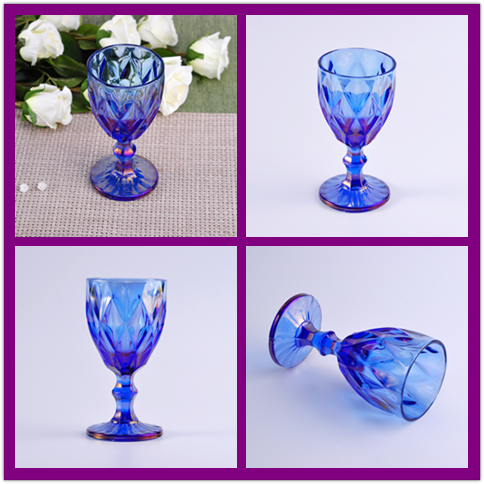 Dazzling  Iron Plating Glass Candle holders
