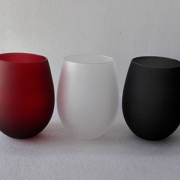 frosted glass holders