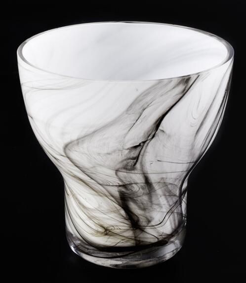 Marble finish hand made glass