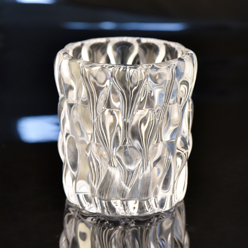 Luxury crystal glass candle jar