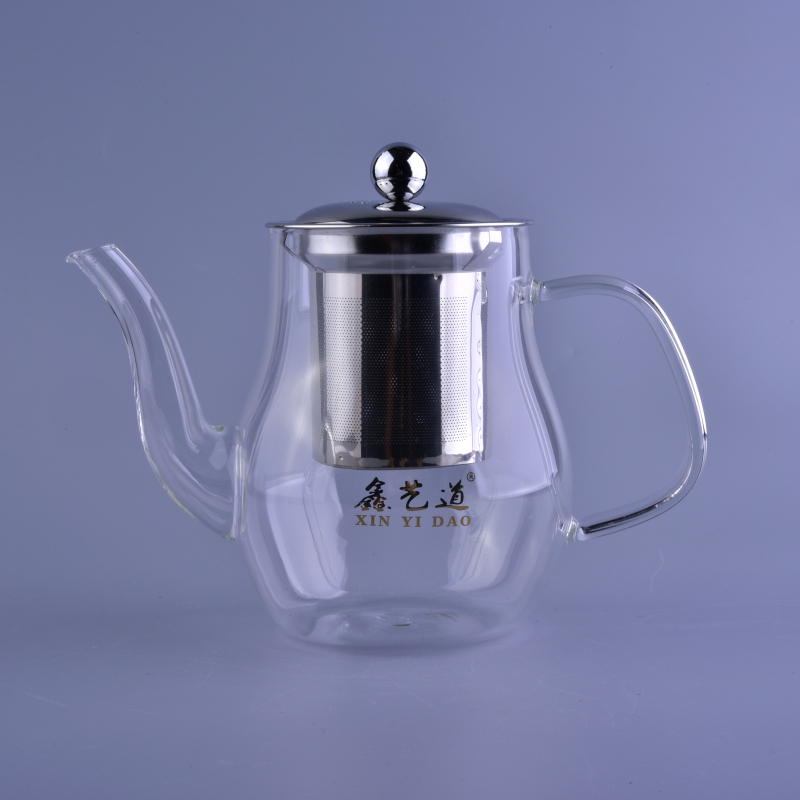 Chinese thermos pyrex glass tea pot wholesale